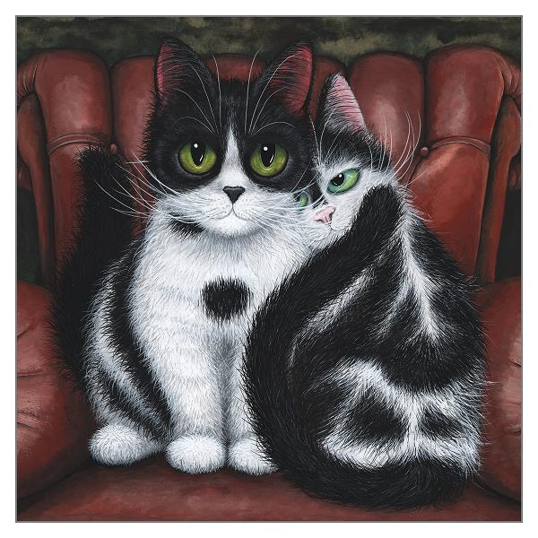 'Home Comfort' Cat Greeting Card by Tamsin Lord