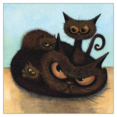 'The Chocolate Truffles' Cat Greeting Card