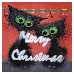 'Merry Christmas' Funny Cat Greeting Card