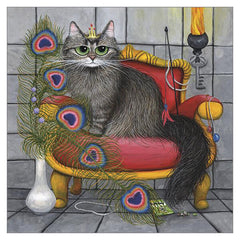 'Lady Pixie of Mews Manor' Cat Greeting Card by Tamsin Lord