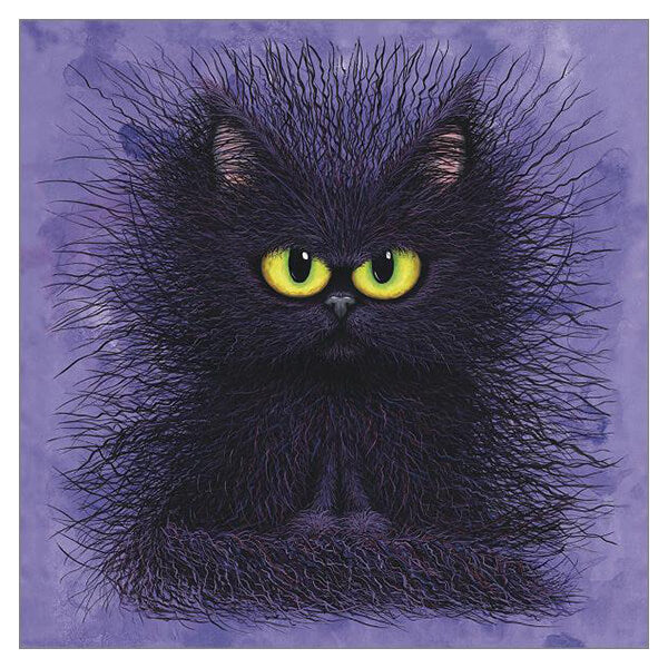 'Oreo Flavoured Fluffles' Cat Greeting Card by Tamsin Lord