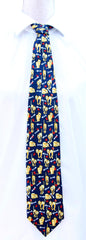 Cats with Fish Bones Novelty Cat Neck Tie