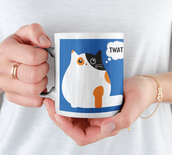 This Cat Thinks You're a Twat Cat Mug