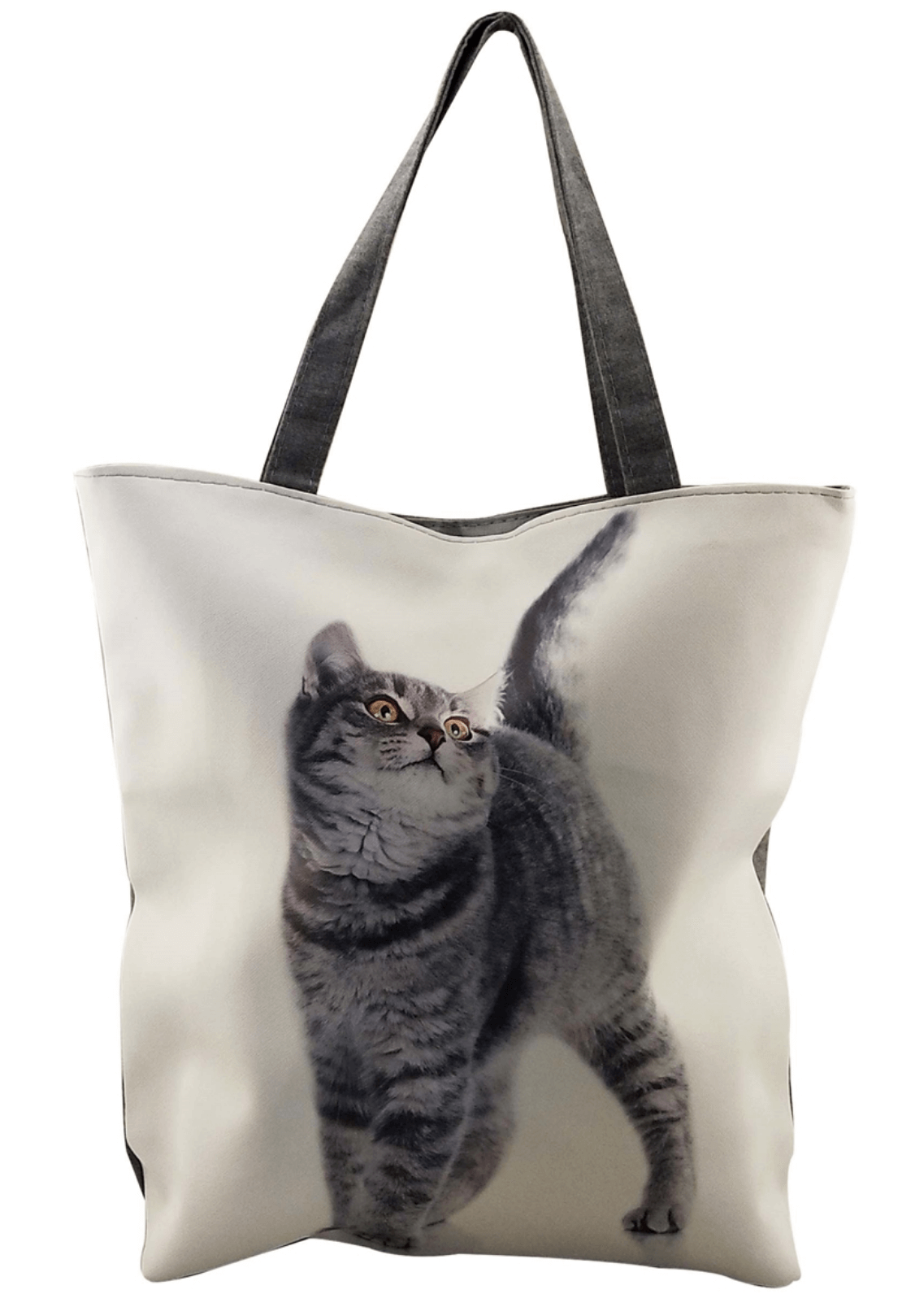 Tom Grey Cat Beach Shoulder Tote Bag