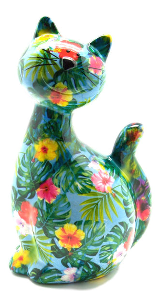 Tropical Ceramic Pomme Pidou Caramel Cat Money Box