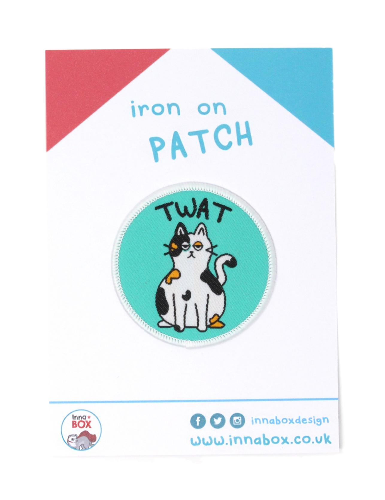 Twat Cat Iron on Patch
