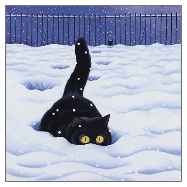 'Big Foot' Cat Greeting Card