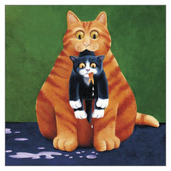 'Goldfish Gone' Cat Greeting Card