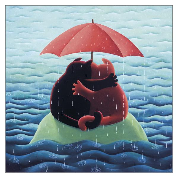 'Waiting for Noah' Cat Greeting Card