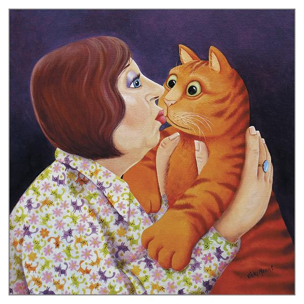 'Ooh! I Do Love You' Cat Greeting Card