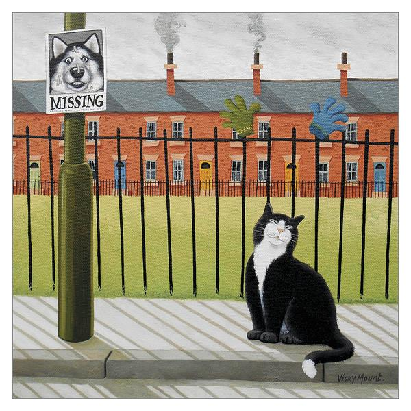 'A Vacancy' Cat Greeting Card