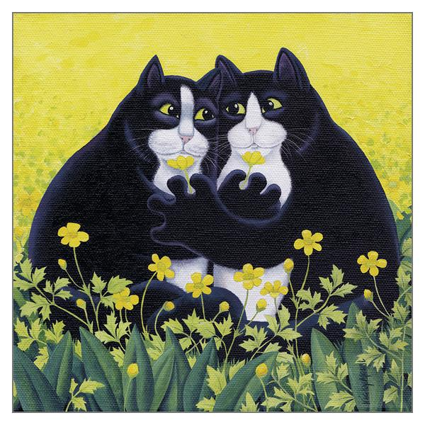 'Buttercups' Cat Greeting Card