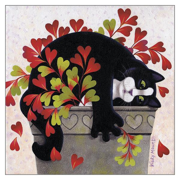 'Love Pot' Cat Greeting Card