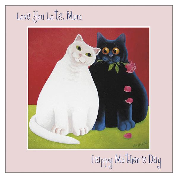 'Love You Lots' Mother's Day Cat Greeting Card