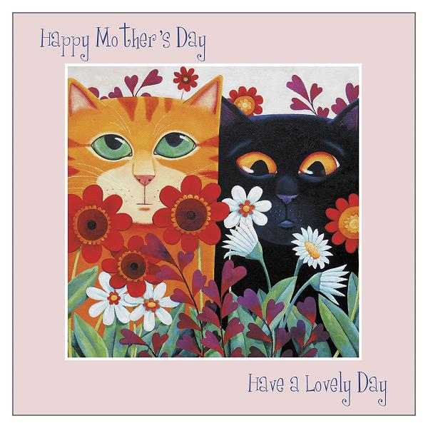 'Lovely Day' Mother's Day Cat Greeting Card