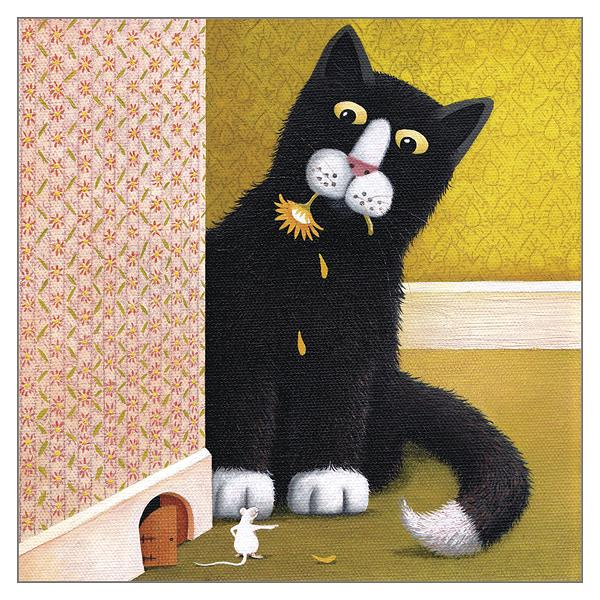 'A Wee Crush' Cat Greeting Card