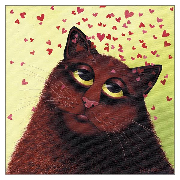 'Love Bugs' Cat Greeting Card