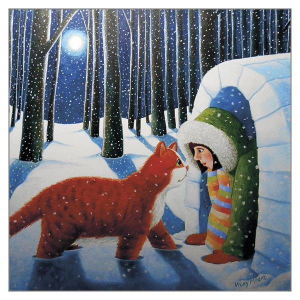 'Igloo for Otto' Ginger Cat Christmas Card