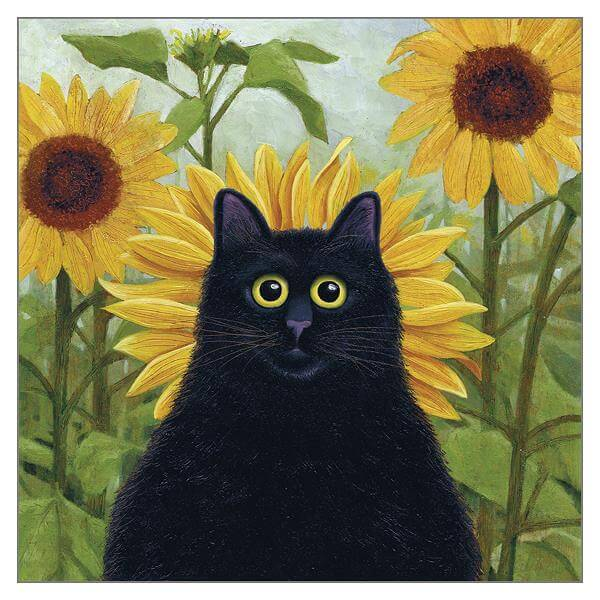 'Dan de Lion' Cat Greeting Card by Vicky Mount