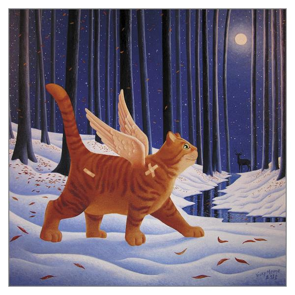 'A Walk on the Quiet Side' Cat Greeting Card