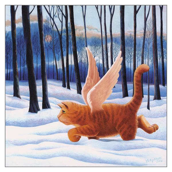 'Tenth Life' Cat Greeting Card