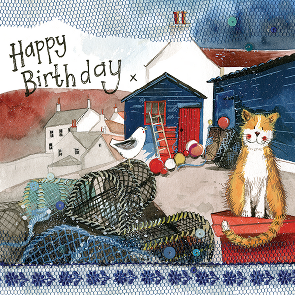 Harbour Cat Birthday Card