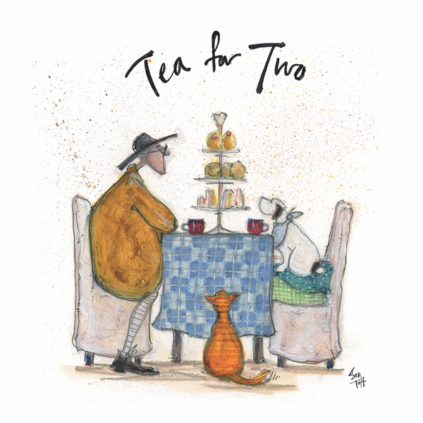 Sam Toft Tea for Two Canvas Print 30x30cm
