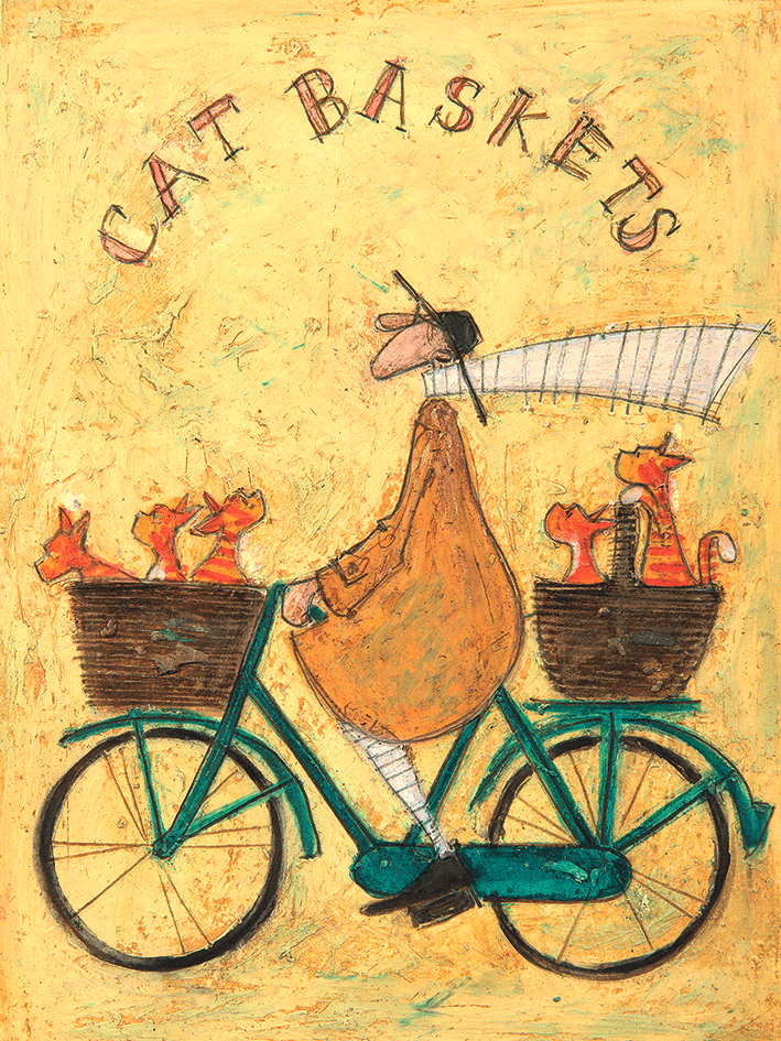 Sam Toft Cat Baskets Canvas Print 40x30cm