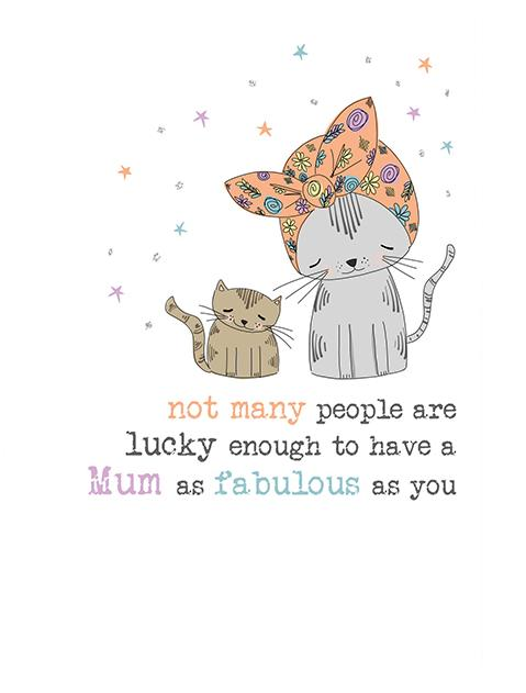 Mum Not Many People Cat Greeting Card