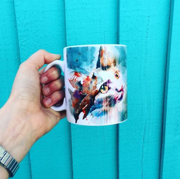 Beautiful Cat Mug by Liz Chaderton