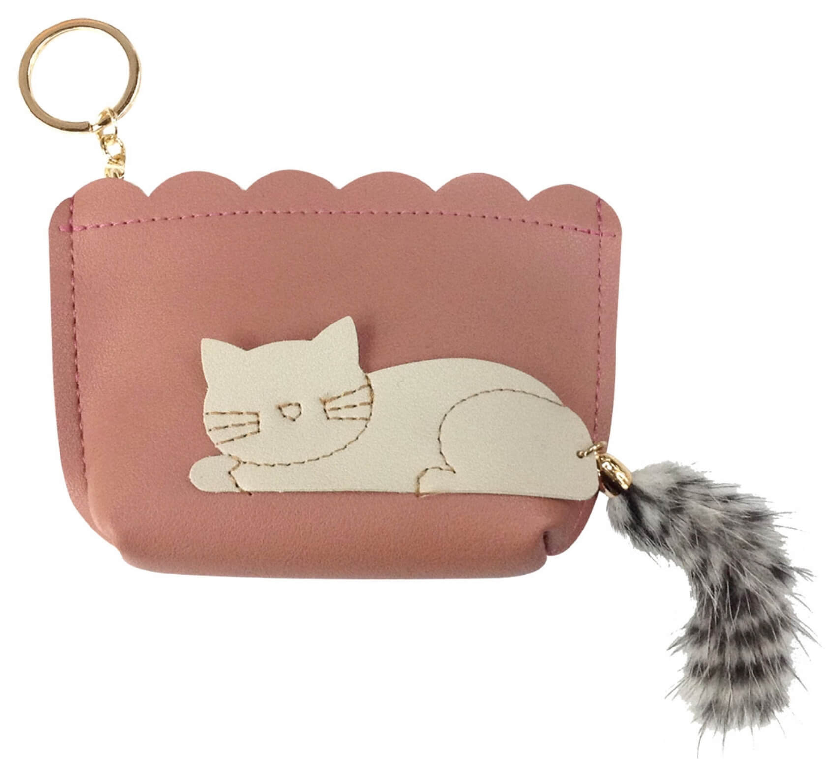 Cat Coin Purses with Fluffy Tails