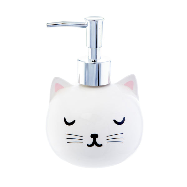 Cutie Cat Ceramic Soap Dispenser