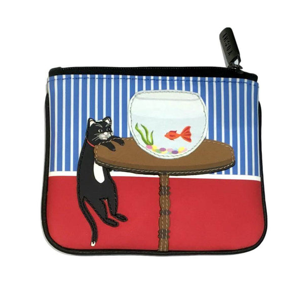 Lichfield Leather Yoshi Cat & Fish Coin Purse
