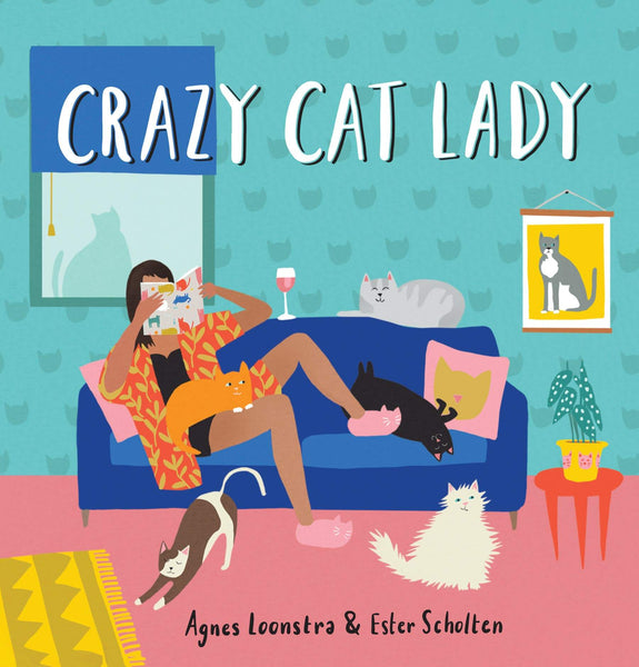 Crazy Cat Lady Hardback Book