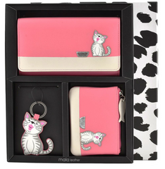 Mala Leather Ziggy Cat Pink Gift Set