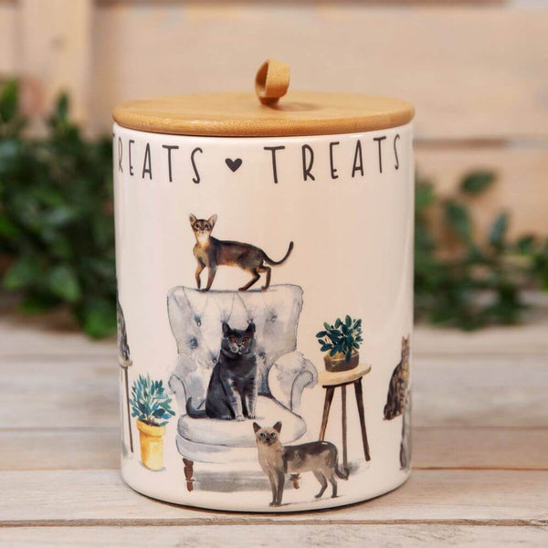 Best of Breed Ceramic Treat Jar - Cat