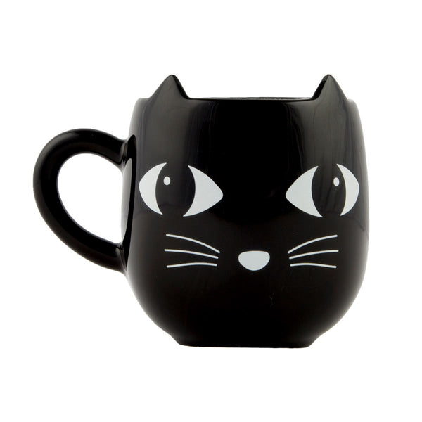 Ceramic Black Cat Mug with Ears