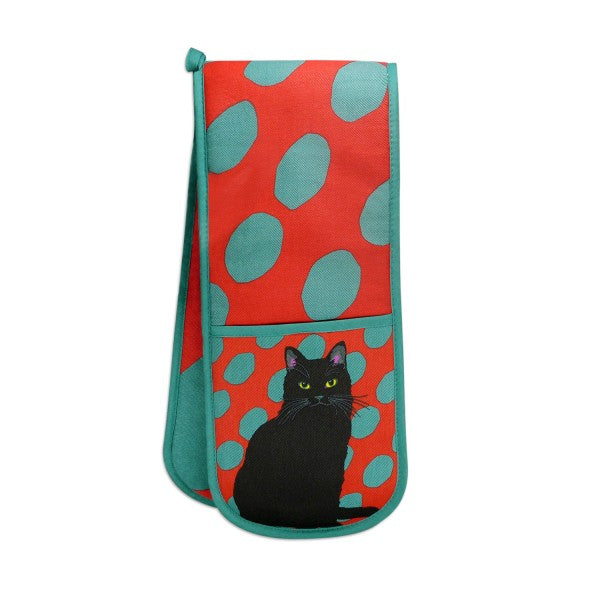 Black Cat Double Oven Gloves