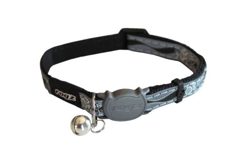 Rogz Black NightCat Collar