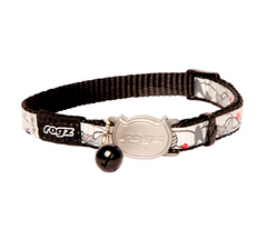 Rogz Black ReflectoCat Collar