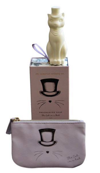 Cat Soap & Coin Purse Gift Set