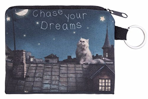 Chase Your Dreams Cats Small Coin Purse