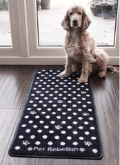 X Long Black Spotty Door Mat