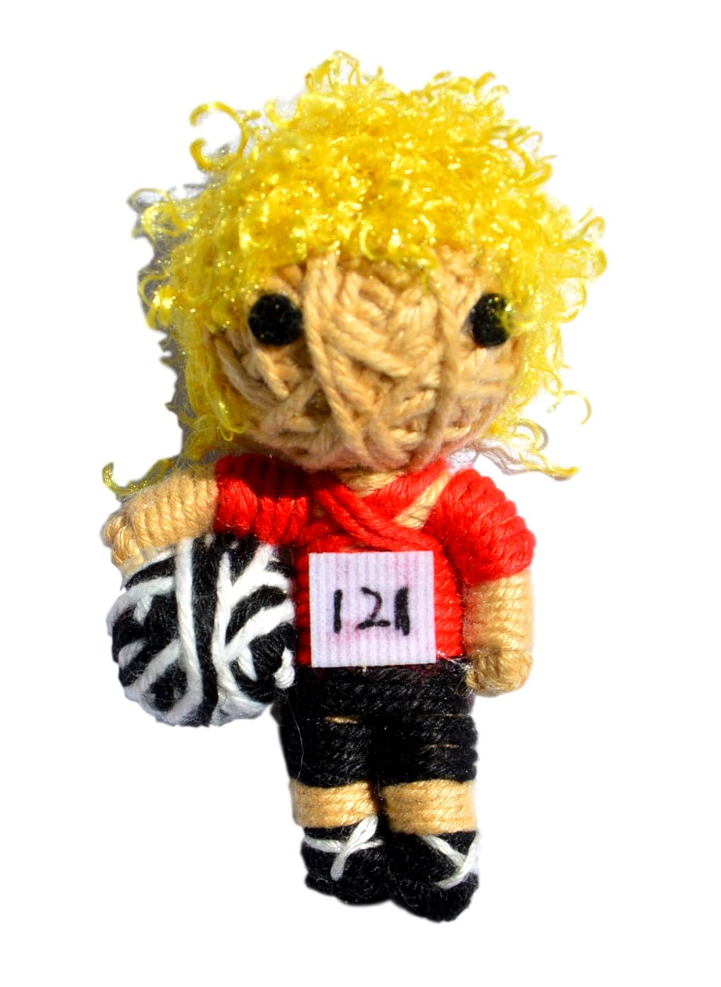Freddy the Footballer String Doll Catnip Toy