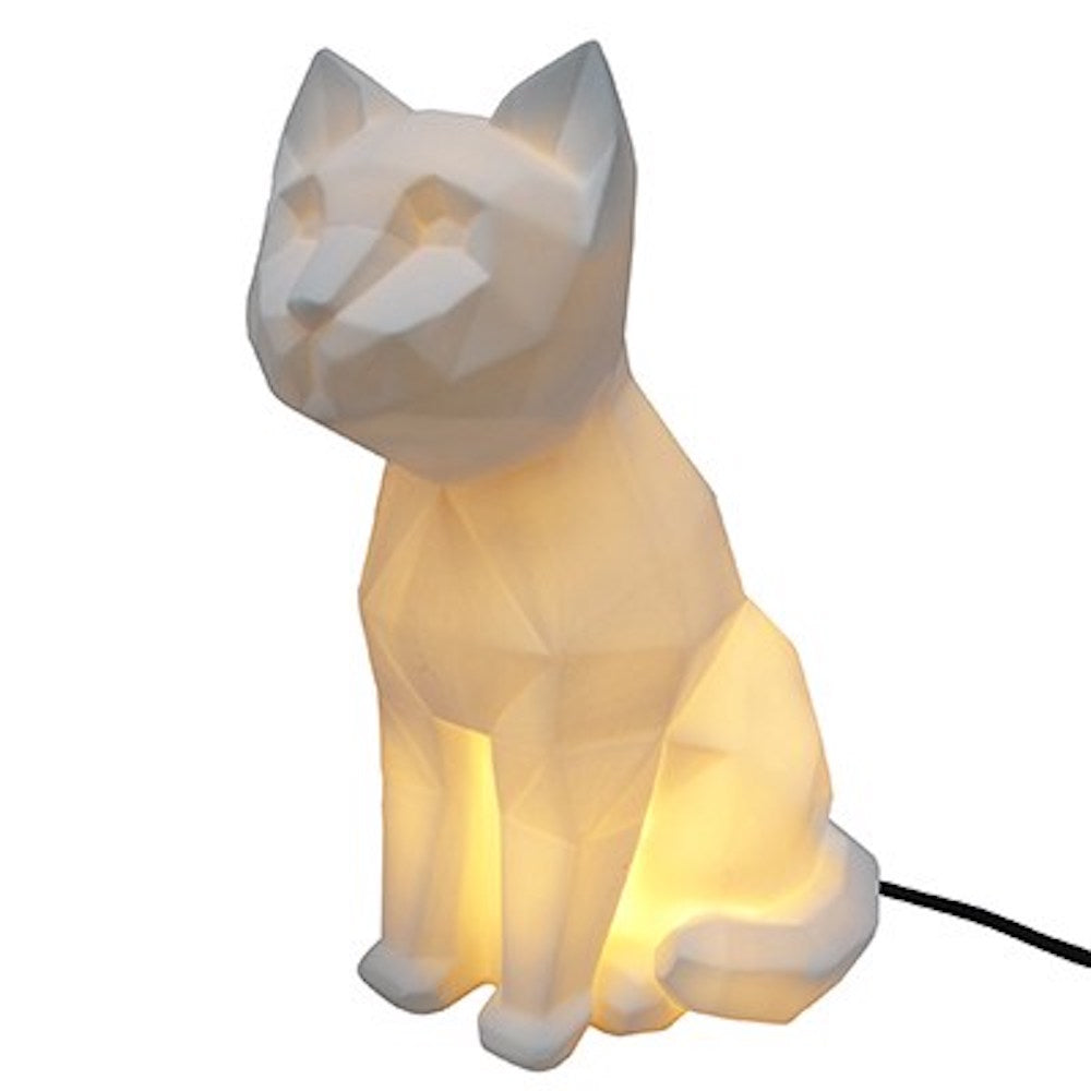 Origami White Cat Lamp
