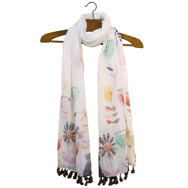 Colourful Ink Press Printed Cat Scarf