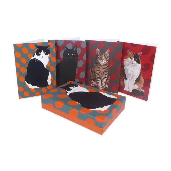 Cat Notecards, Stunning Cat Designs, Set of 12