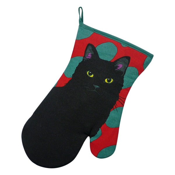 Black Cat Oven Glove / Gauntlet