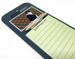 Black & White Cat Magnetic Notepad by Leslie Gerry