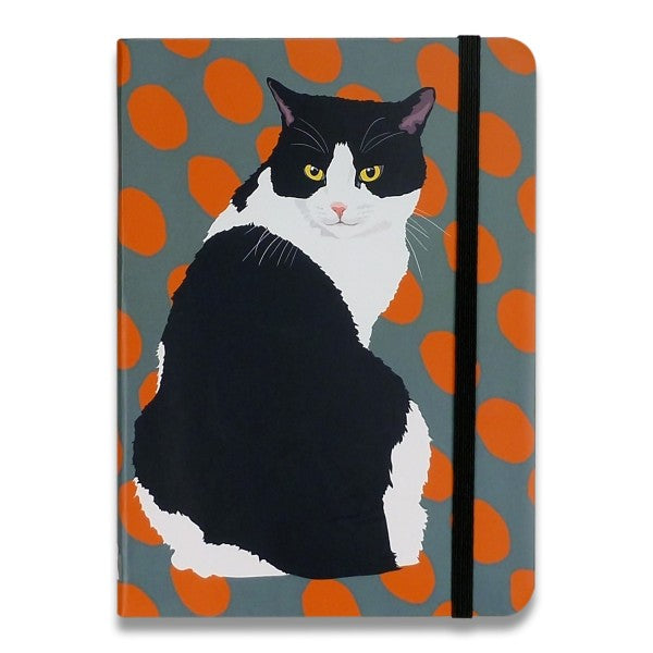 Black & White Cat Notebook